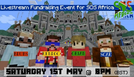 Minecraft Icons Host 2nd Livestream Fundraising Event for SOS Africa